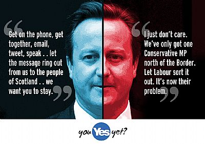 cameron on scotland: i just don't care. let labour sort it out. it's now their problem