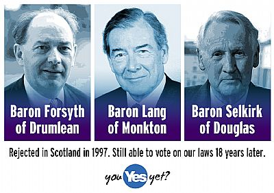 tory lords - rejected 18 years ago by scottish voters, still able to vote on our laws