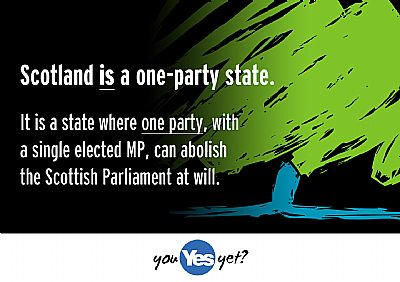 one-party scotland: where tories with 1 mp can abolish holyrood at will.