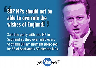 the party with 1 mp has overruled every single scotland bill amendment proposed by 58 scots mps