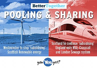 pooling & sharing: scotlands renewabls funding cut, scotland still to pay towards hs2 etc
