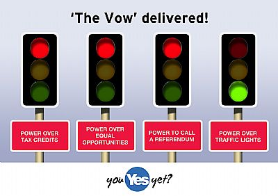 'the vow' delivered - power over traffic lights
