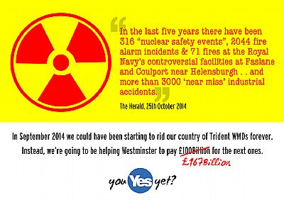 in 2014 we could have been staring to remove trident wmds from scotland forever . .