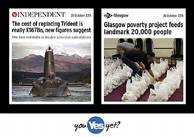 trient to cost �167b whilst glasgow poverty project feeds 20,000 people