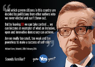 gove: are we really too small, too weak and too powerless to make a success of self-rule