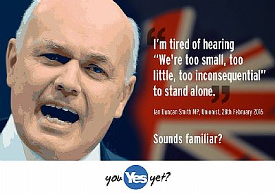 ian duncan smith - i'm tired of hearing that we're too small, too little to stand alone