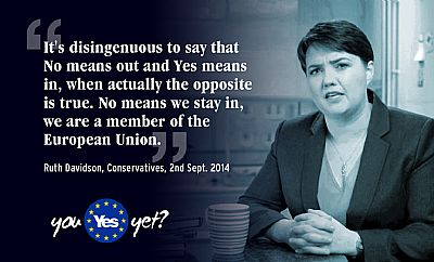 ruth davidson - a no vote means scotland stays in the eu