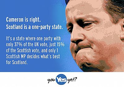 scotland is a one-party state - where the tories with just one mp . .