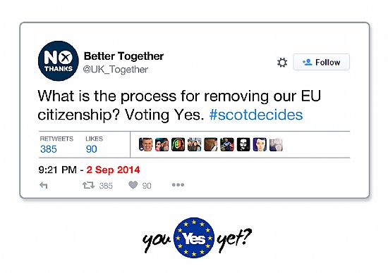 bettertogether - what is the process for removing our eu citienship? voting yes.