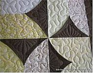 Quick and easy curved pinwheel block