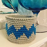 Tapestry Crochet Bowl