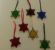 Glass Christmas Stars