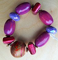 Pink and purple Mixed Bracelet