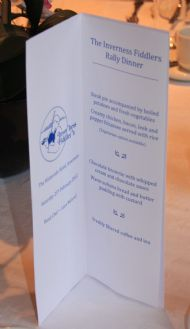 The Waterside Hotel Rally Tea menu detail