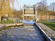 Houghton Lock (in flood)