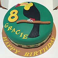 Toucan Birthday Cake