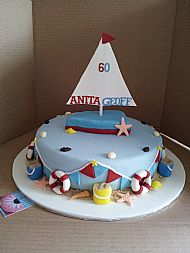 60th Nautical Cake