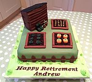 Allotment Retirement Cake