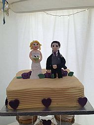 Bride and Groom on the Cake