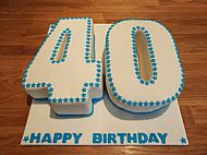 Large 40 Cake