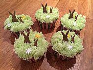 Spring bunny cupcakes