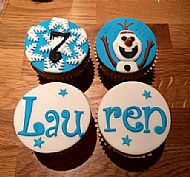 Frozen Olaf cupcakes