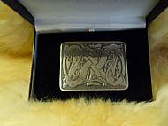 Celtic Pewter Kilt Buckle
