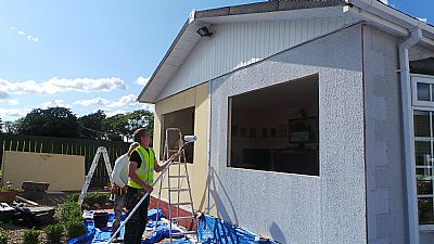 Park Home Repairs Exterior Painting With RESITEX Paints