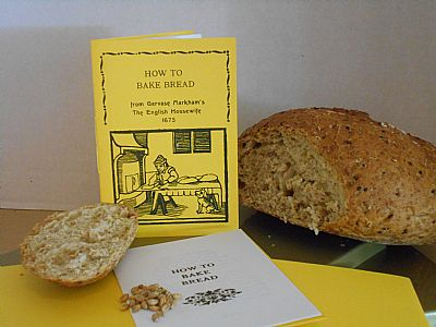 how to bake bread. an amusing a6 booklet reprinting a seventeenth century text.