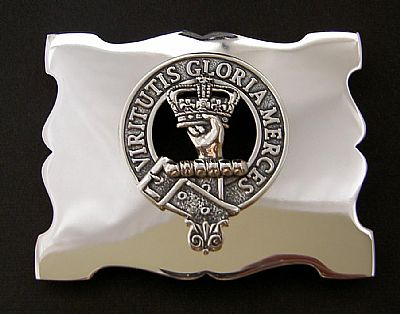 silver clan belt buckle