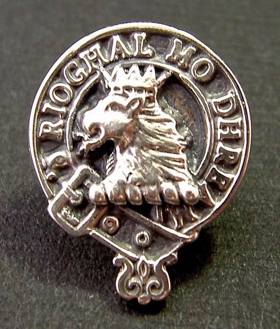 silver clan tie pin