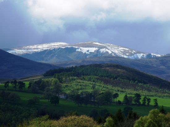 the last snows of the year on ben wyvis