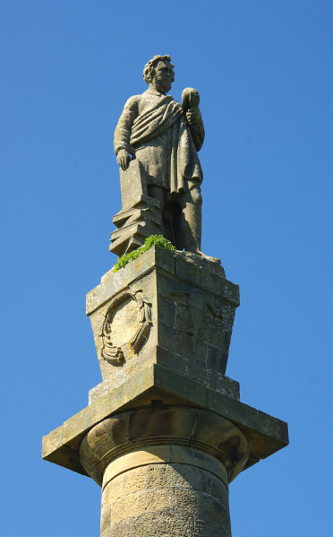close up of the hugh miller monument, cromarty