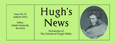 banner of hugh's news, newsletter of friends of hugh miller