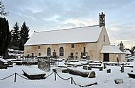 the east church in snow