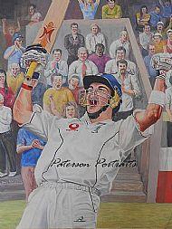 kevin pieterson portrait painting by david paterson