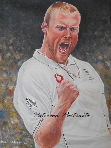 andrew flintoff portrait by david paterson