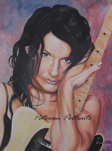 portrait of meredith brooks by  david paterson