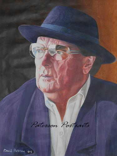portrait of van morrison by david paterson