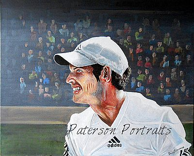 oil portrait of andy murray at wimbledon