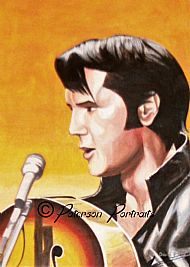 elvis portrait painting by david paterson
