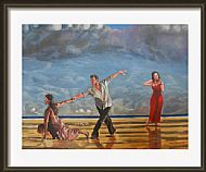 framed beach ballet by david paterson