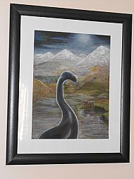 framed loch ness monster by david paterson
