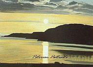 oil painting auchiltibuie sunset by david paterson