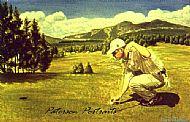 portrait painting of simon jones by david paterson
