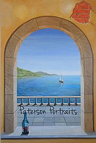 drift away, trompe leoil painting by david paterson