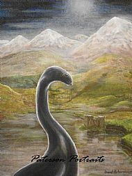 loch ness monster oil painting by david paterson