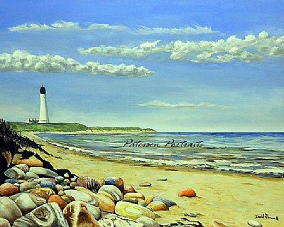 covesea lighthouse painting by david paterson