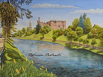 inverness castle painting by david paterson