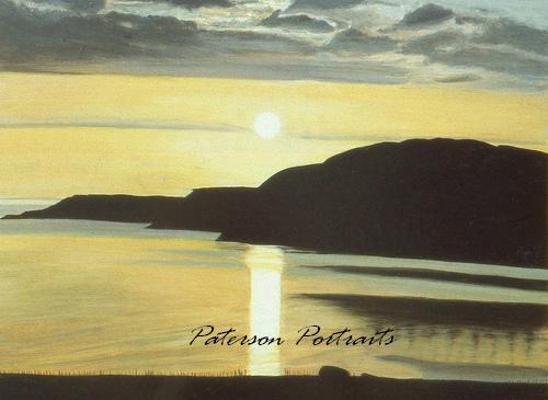 auchiltibuie sunset  painting by david paterson